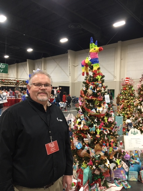 Mike at Festival of Trees